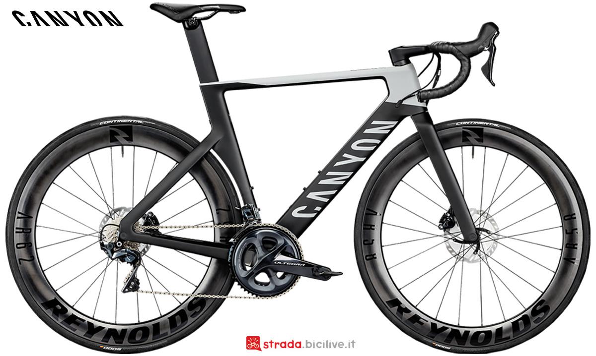 La nuova bici da strada Canyon Aeroad CF SL 8 Disc Shimano Ultegra 2021
