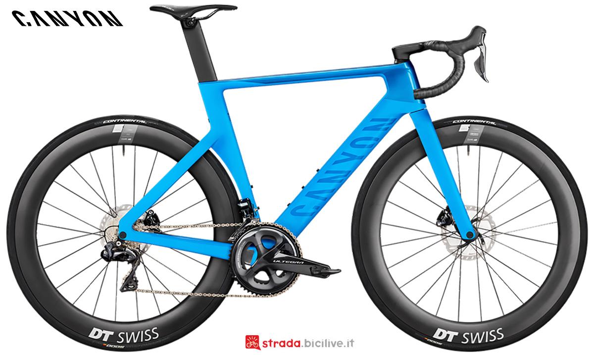 La nuova bici da strada Canyon Aeroad CF SLX 8 Disc Shimano Di2 2021