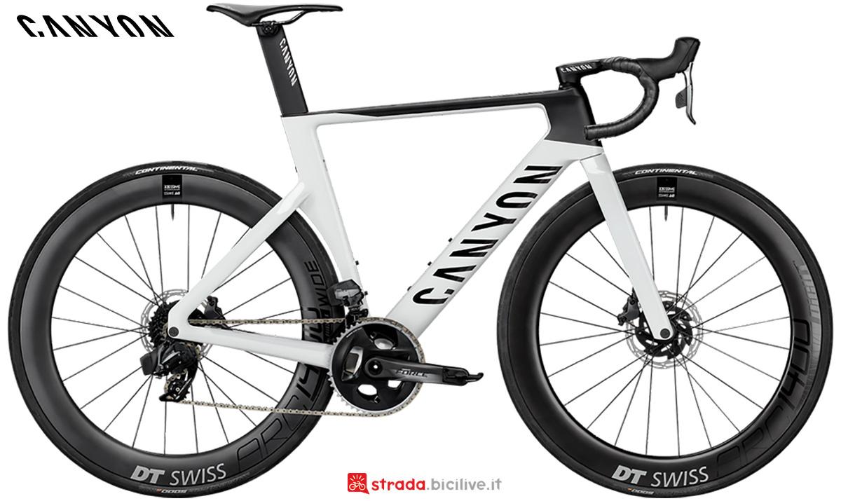 La nuova bici da strada Canyon Aeroad CF SLX 8 Disc Sram Etap 2021