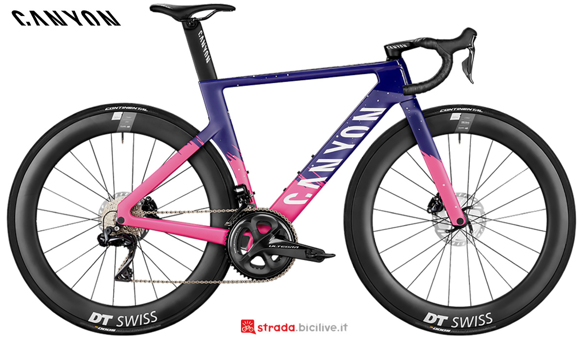 La nuova bici da strada Canyon Aeroad CF SLX 8 WMN Disc Shimano Di2 2021