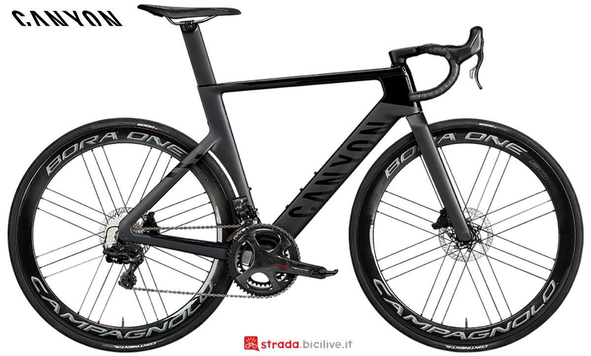 La nuova bici da corsa Canyon  Aeroad CFR Disc Campagnolo Super Record EPS 2021