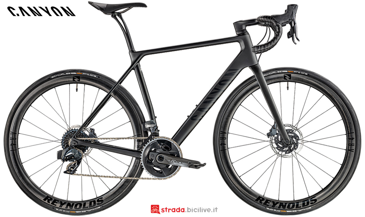 La nuova bici da corsa Canyon CF SLX 8 Disc Sram Etap 2021
