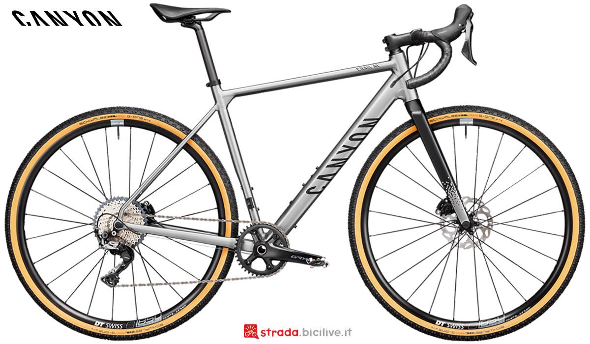 La nuova bici da corsa Canyon Grail Al 7 1By Shimano Grx600 2021