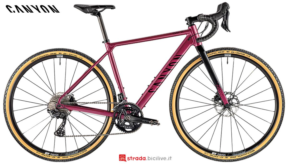 La nuova bici da strada Canyon Grail WMN Al 7 Shimano Grx600 2021