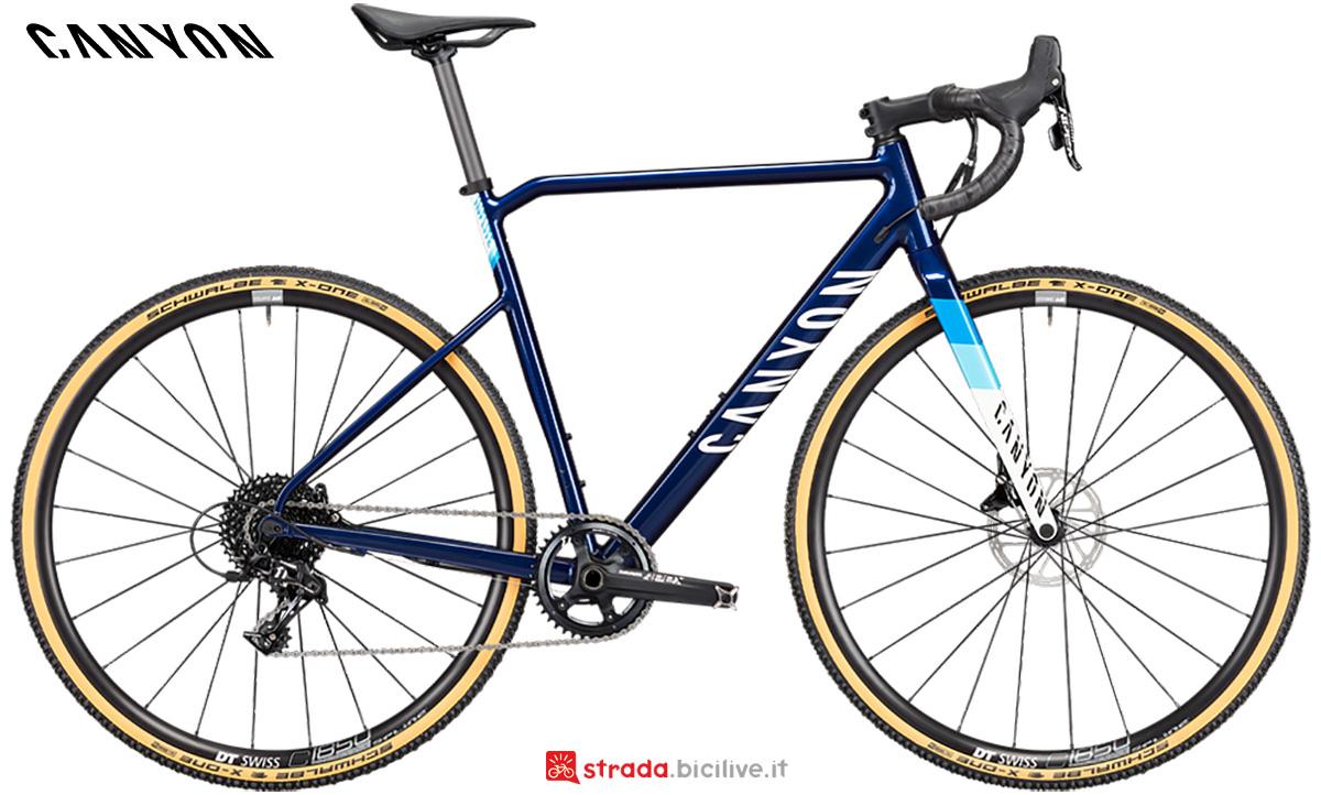 La nuova bici da gravel Canyon Inflite Al 5 Sram Apex 2021