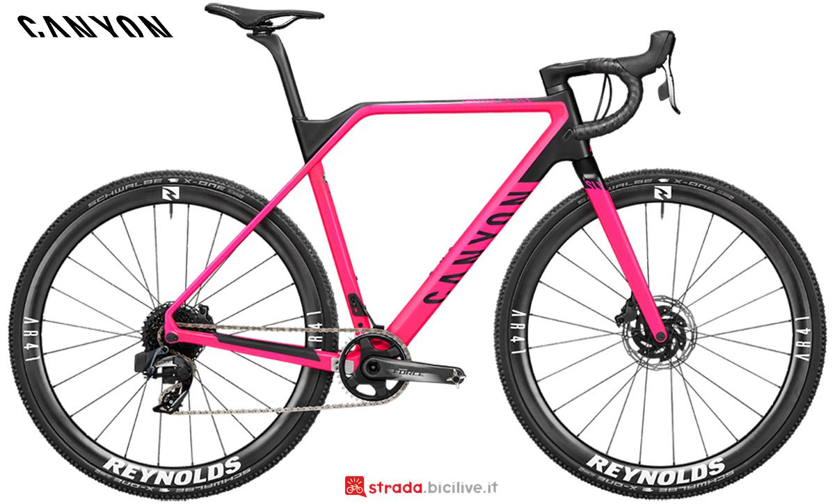 La nuova bici da gravel Canyon Inflite CF SLX 9 Sram Etap 2021
