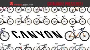 Il catalogo e i prezzi delle nuove bici da corsa, strada e gravel di Canyon 2021