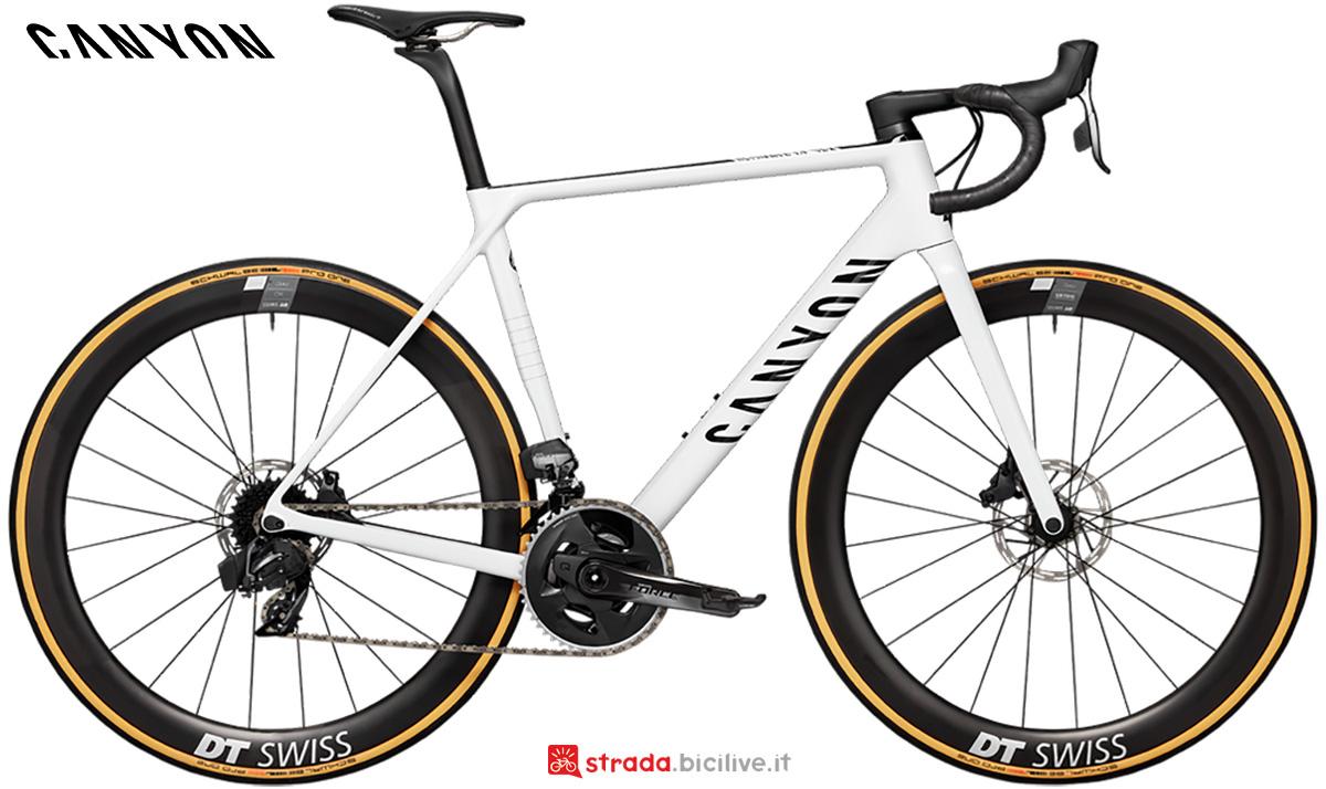 La nuova bici da corsa Canyon Ultimate CF SLX Disc 8.0 Sram Etap 2021