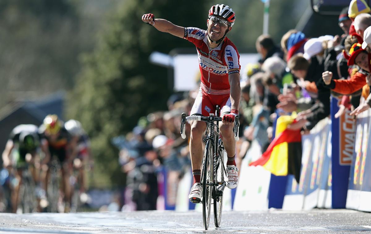 Joaquim Rodriguez vince la Freccia Vallone del 2012