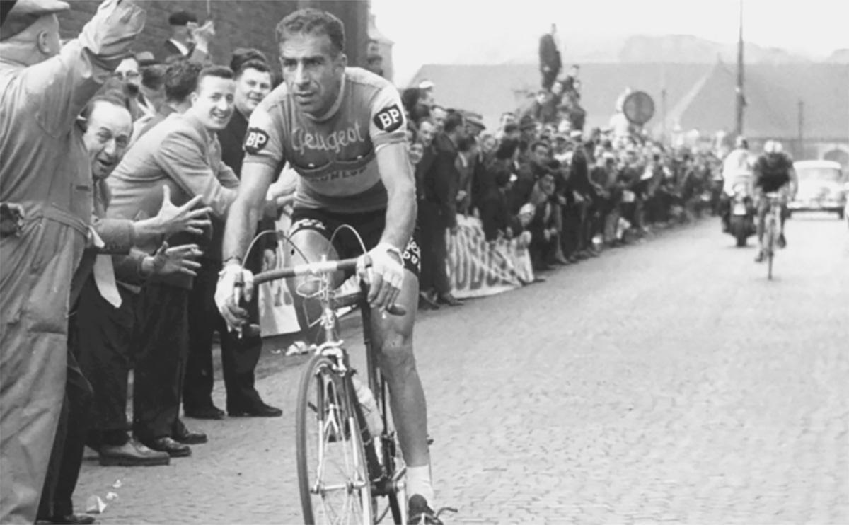 Pino Cerami durante le Freccia Vallone del 1960