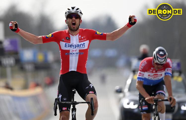 Il vincitore del Giro delle Fiandre 2021 Kasper Asgreen