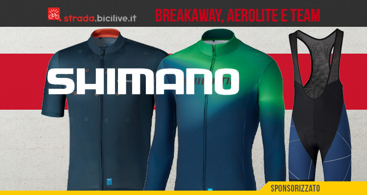 Le nuove linee di abbigliamento per bici da strada Shimano Breakaway, Aerolite e Team 2021