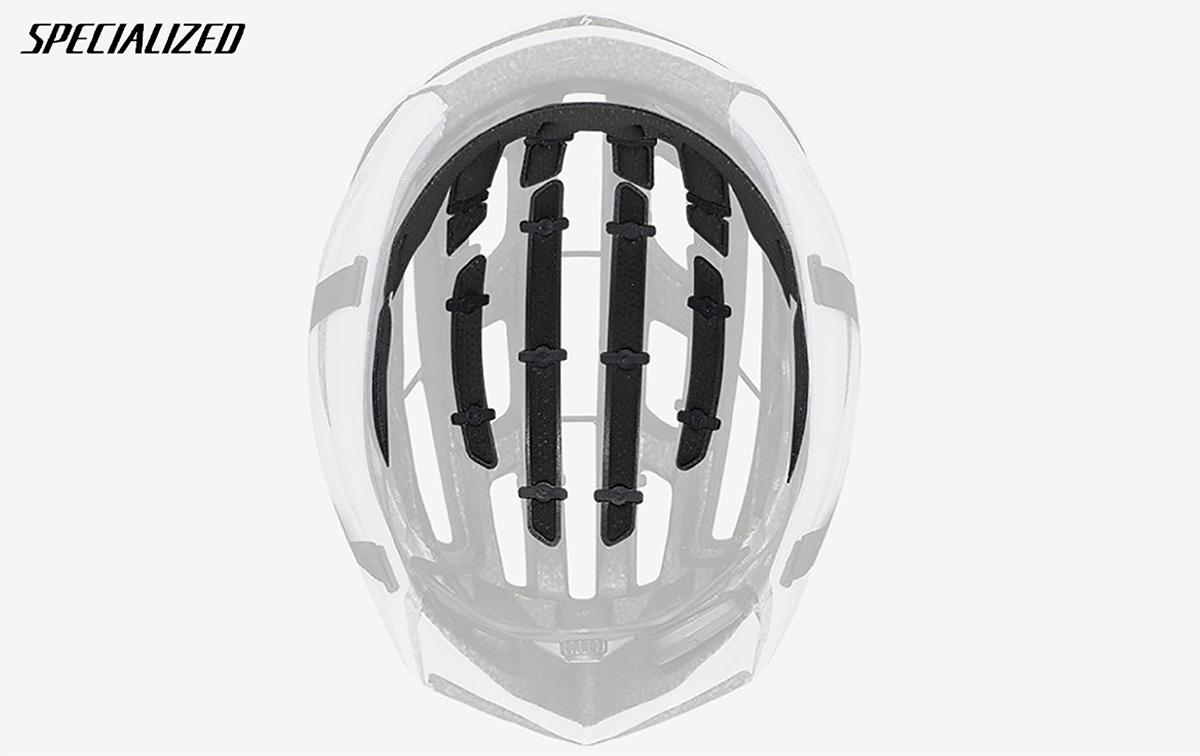 La posizione interna del sensore ANGI presente nel nuovo casco per bici Specialized S-Works Prevail II Vent 2021