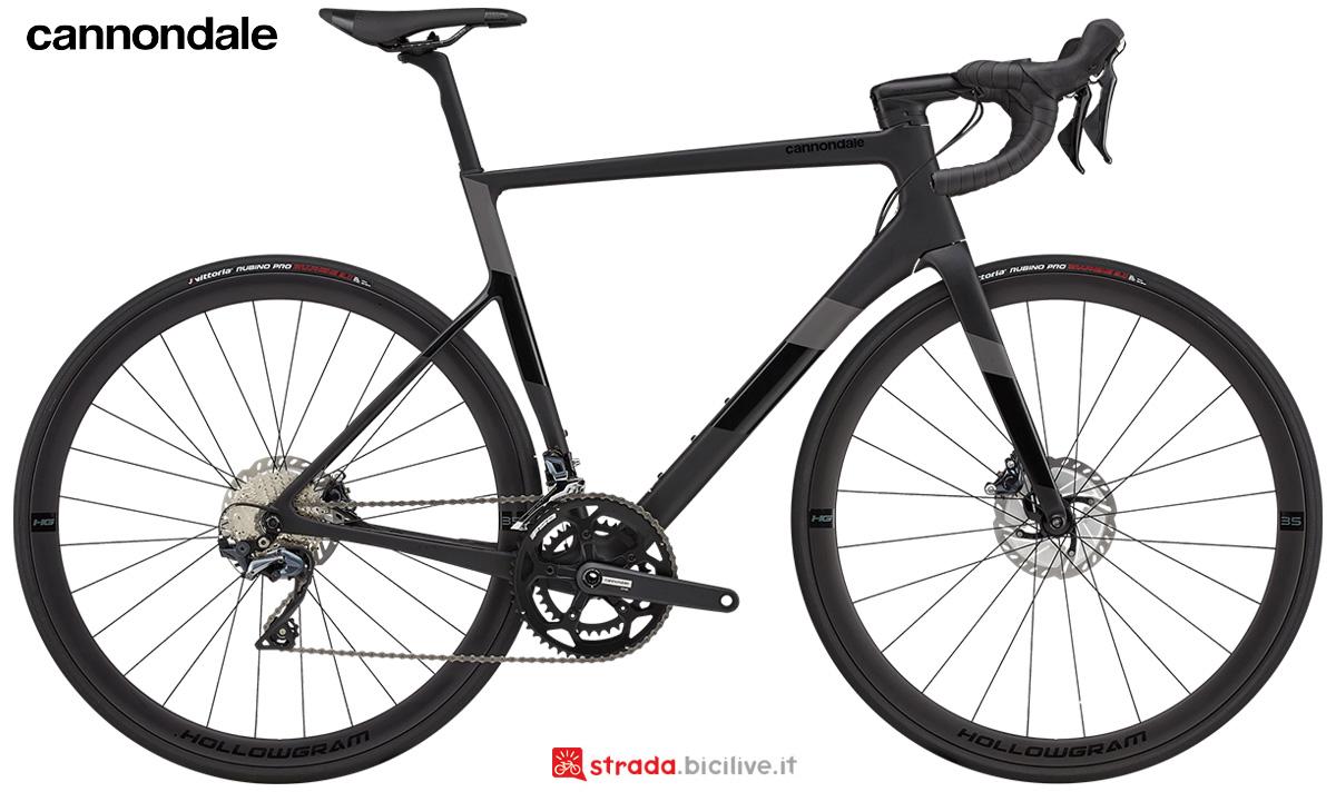 La nuova bici da strada Cannondale Supersix Evo Carbon Disc Ultegra 2021