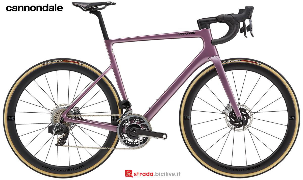 La nuova bici da strada Cannondale SuperSix EVO Hi-Mod Disc Red Etap 2021