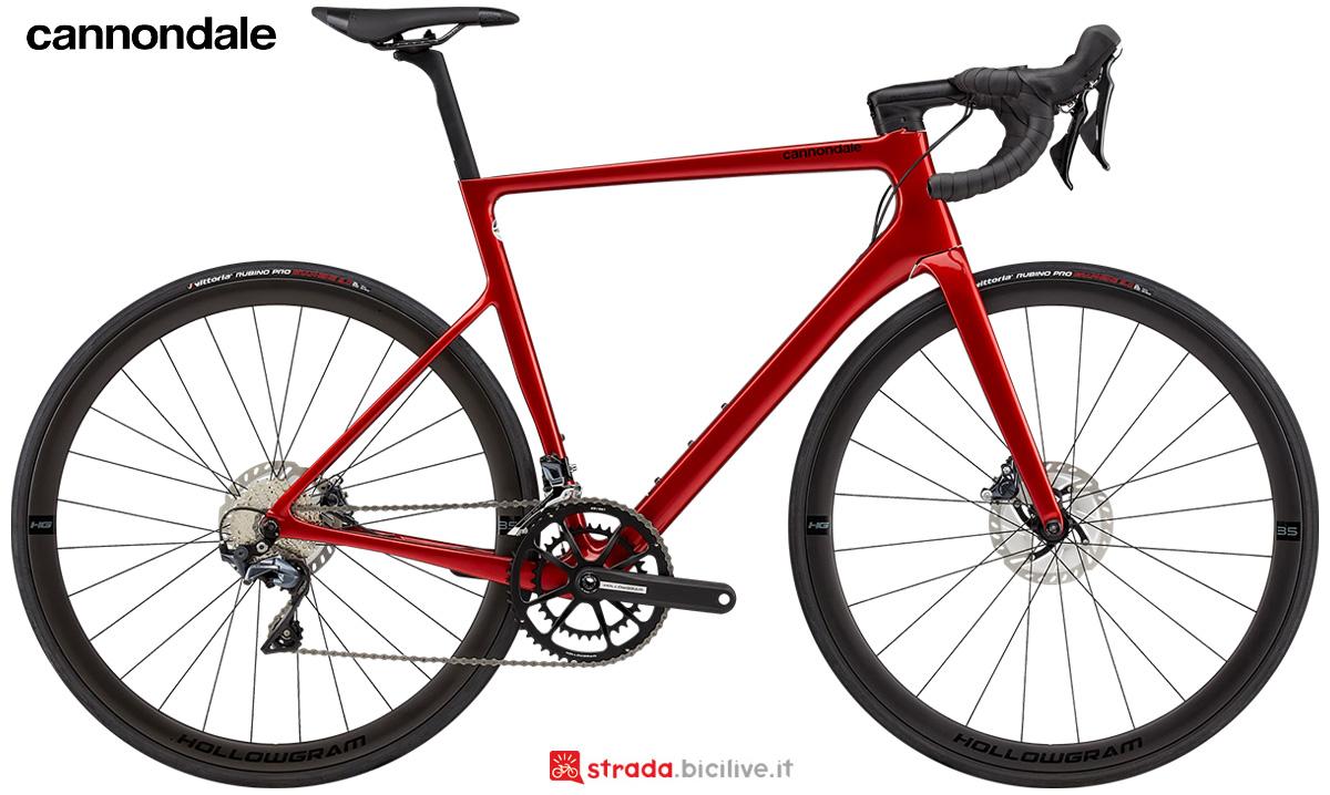 La nuova bici da strada Cannondale Supersix Evo Hi-Mod Disc Ultegra 2021