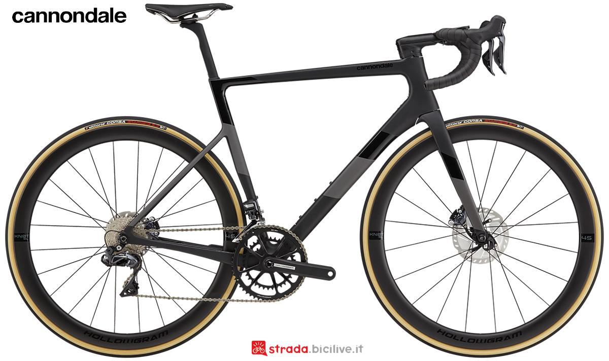 La nuova bici da corsa Cannondale Supersix Evo Hi-Mod Disc Ultegra Di2 2021