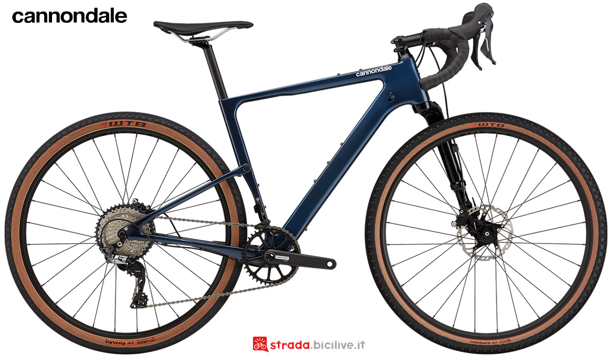 La nuova bici da strada Cannondale Topstone Carbon Womens Lefty 3 GRX 2021