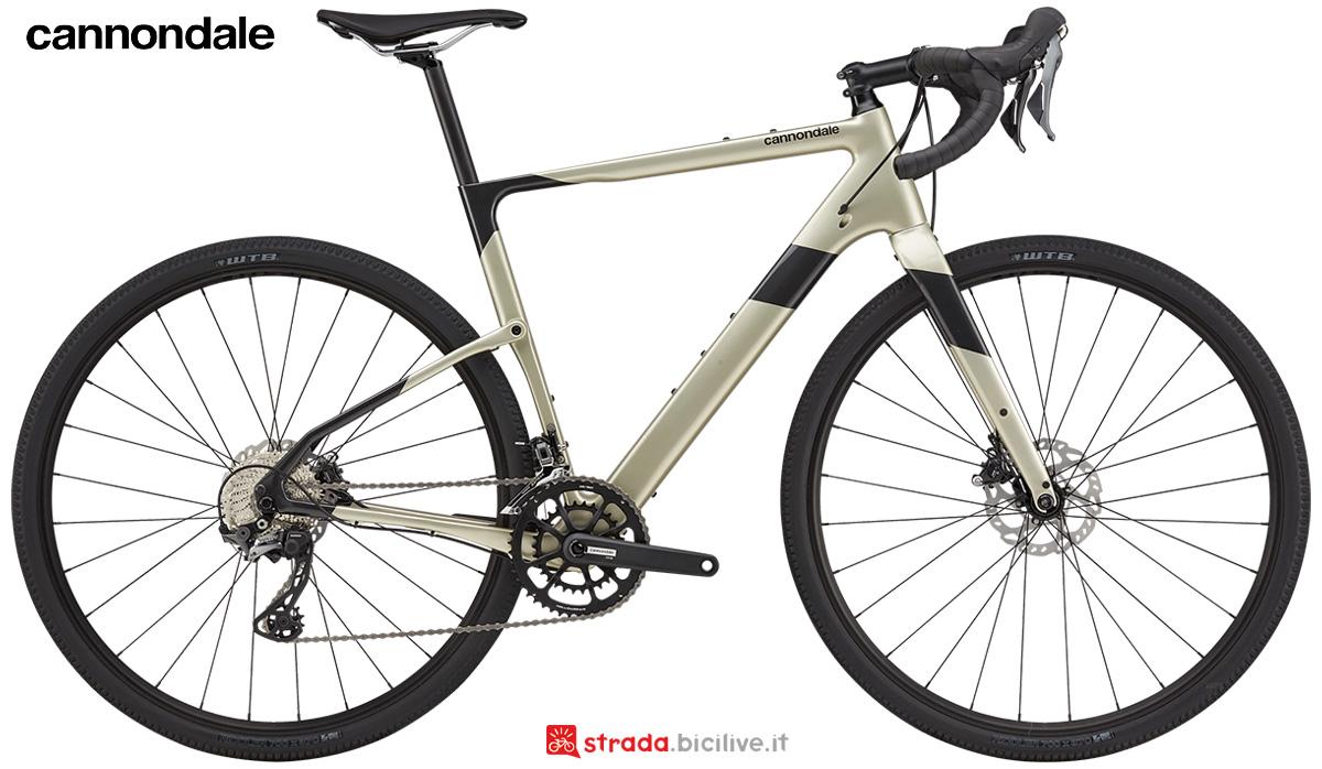 La nuova bici da corsa Cannondale Topstone Carbon 4 RX 2021