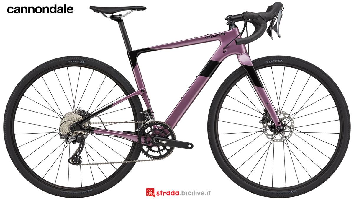 La nuova bici da corsa Cannondale Topstone Carbon 4 Women's RX 2021