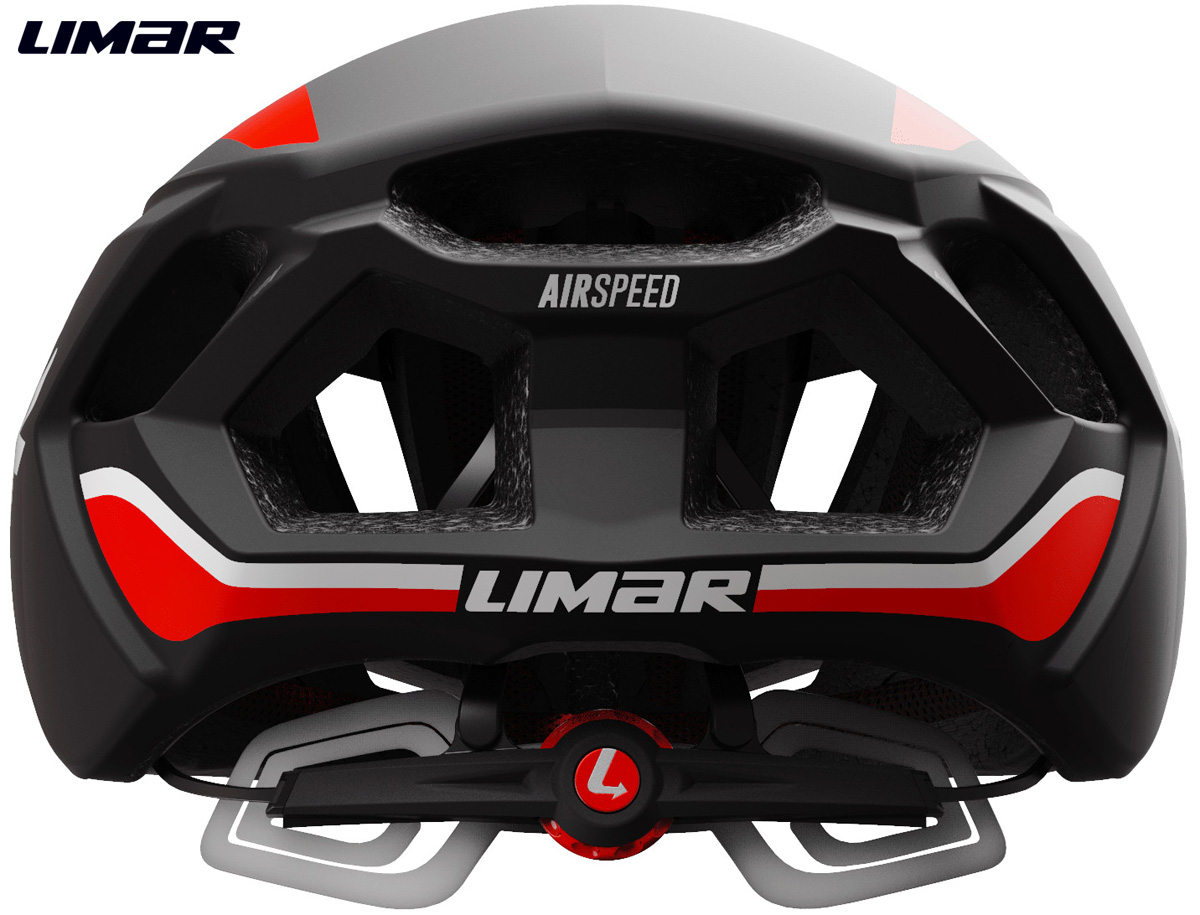 Casco bici corsa Limar Air Speed visto dal retro