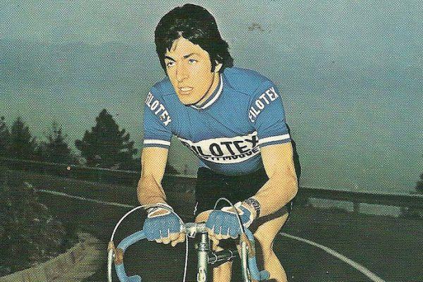 Francesco Moser nel 1973 pedala con la Filotex