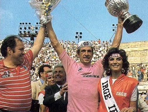 Francesco Moser trionfante al Giro d'Italia 1984