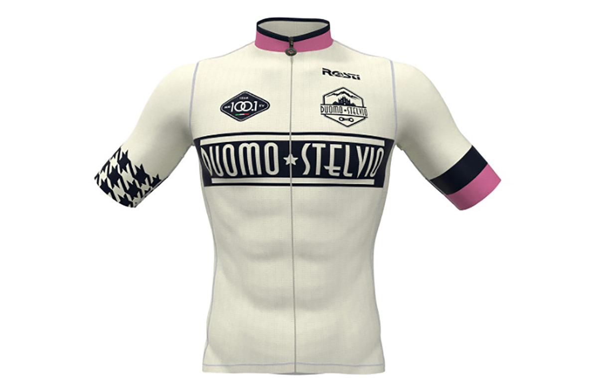La maglia dell'edizione zero della nuova corsa ciclistica Duomo-Stelvio 2021