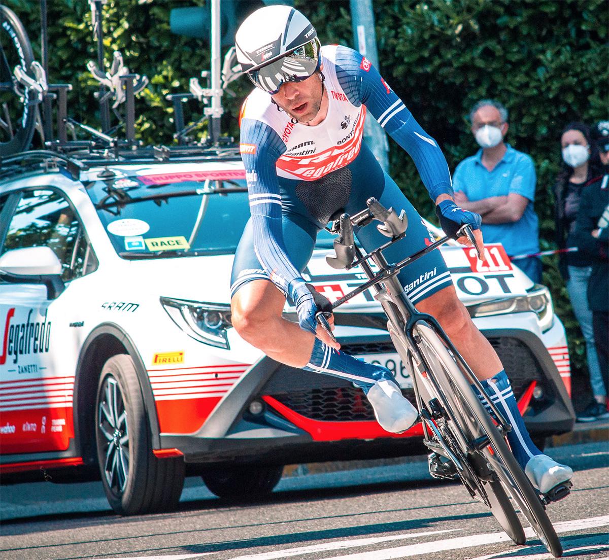 Uno scatto di Vincenzo Nibali durante il Giro D'Italia 2021