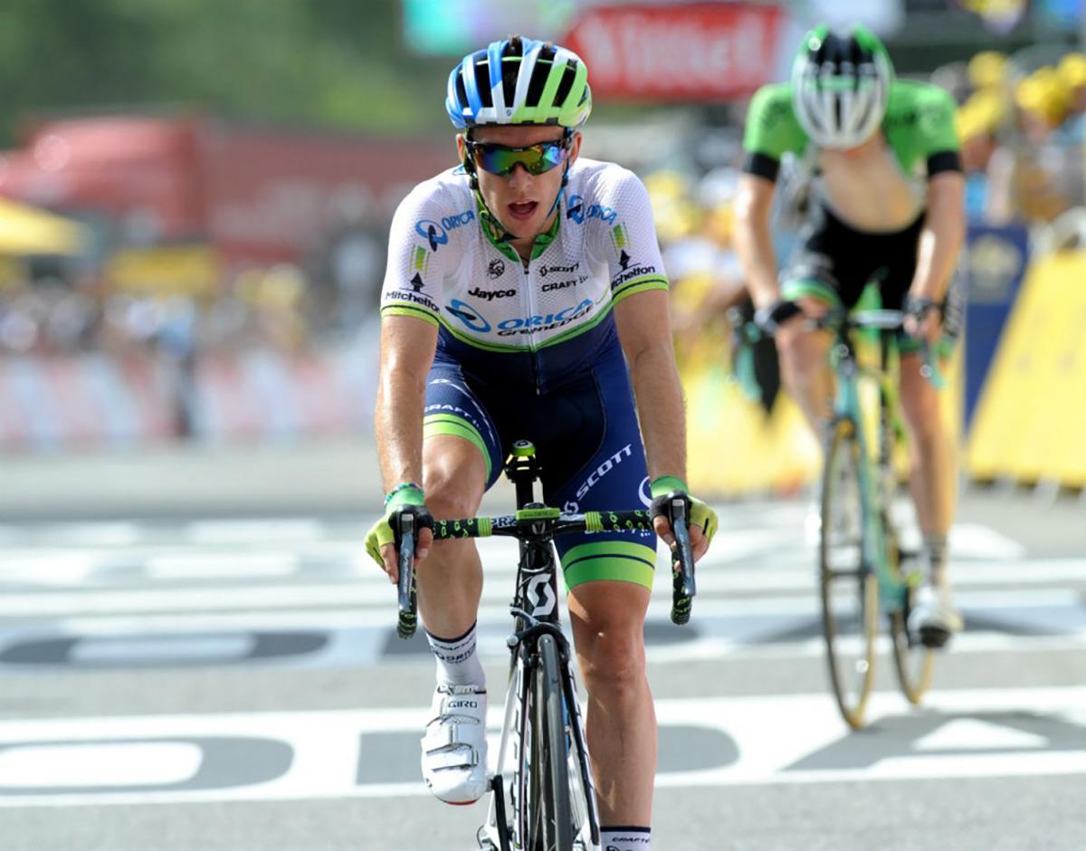 Il ciclista Simon Yates al Tour De France 2014