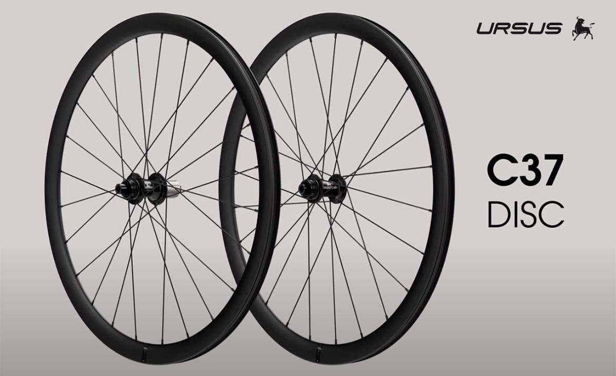 Le nuove ruote per bici da corsa compatibili con freni a disco Ursus C37 Disc 2021