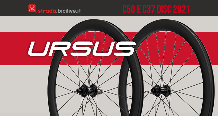 Le nuove ruote per bici da corsa compatibili con freni a disco Ursus C37 e C50 Disc 2021