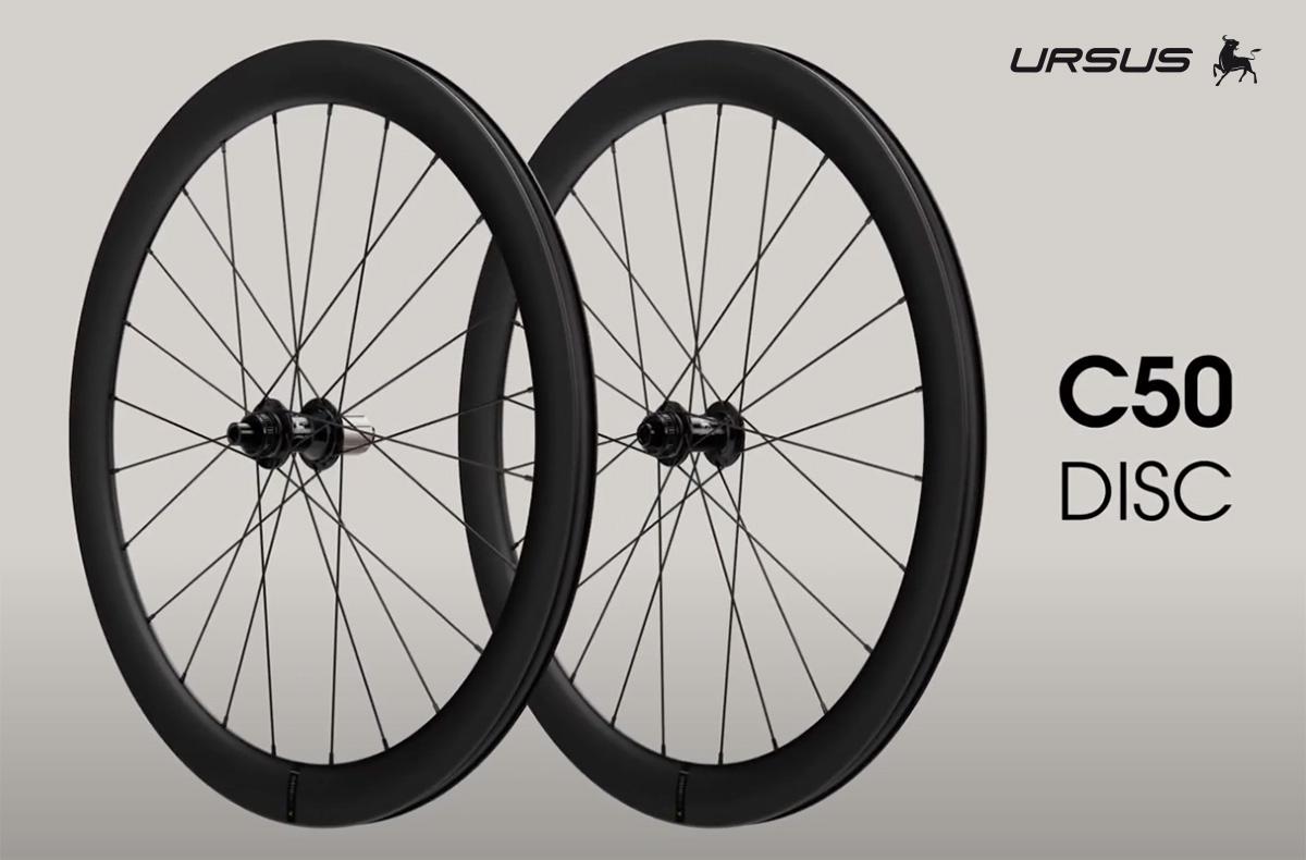 Le nuove ruote per bici da corsa compatibili con freni a disco Ursus C50 Disc 2021