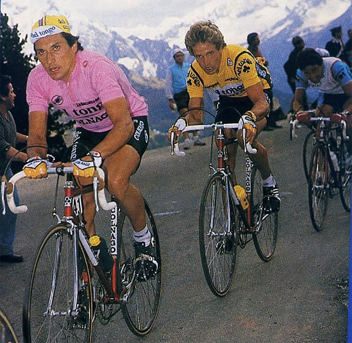 Giuseppe Saronni durante il Giro d'Italia 1983