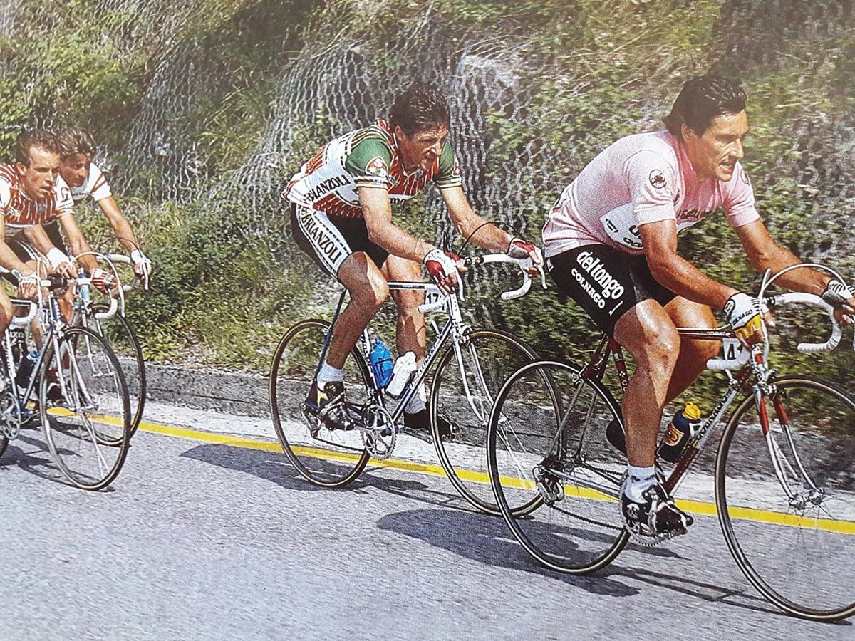 Giuseppe Saronni durante il Giro d'Italia 1986