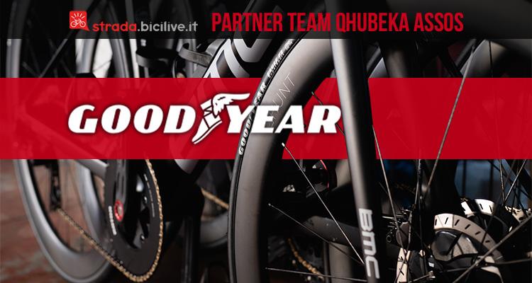 La nuova partnership tra Goodyear e il team Qhubeka Assos per il Worl Tour 2021