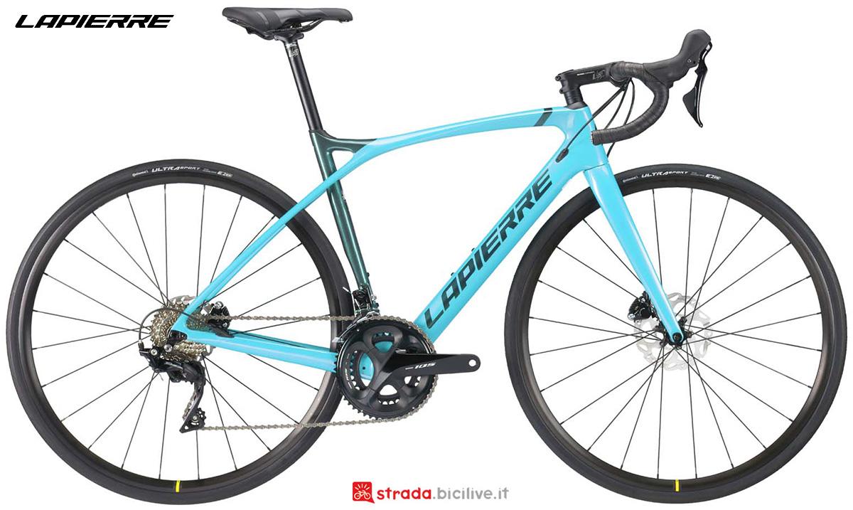 La nuova bici da corsa Lapierre Xelius SL 5.0 Disc donna 2021