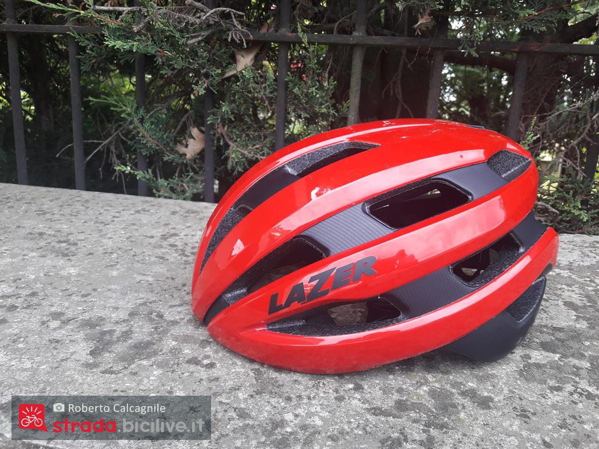 Il lato sinistro del nuovo casco per bici da strada Lazer Sphere 2021