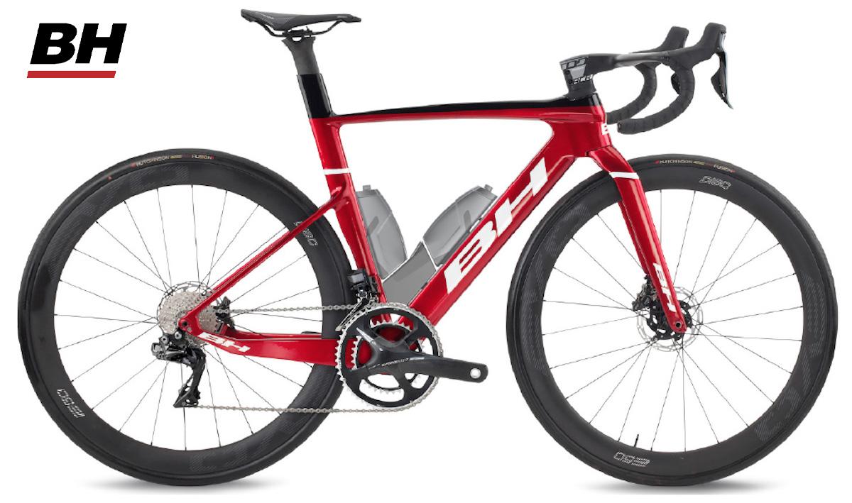 La nuova bici da corsa BH Aerolight con sistema di idratazione vista lateralmente