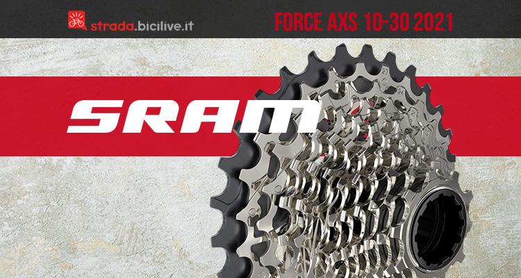 Il nuovo gruppo per bici da corsa Srama Force AXS 10-30 2021