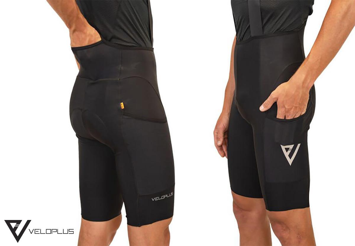 I pantaloncini per ciclisti gravel Veloplus Appalachi con le tasche laterali e posteriori