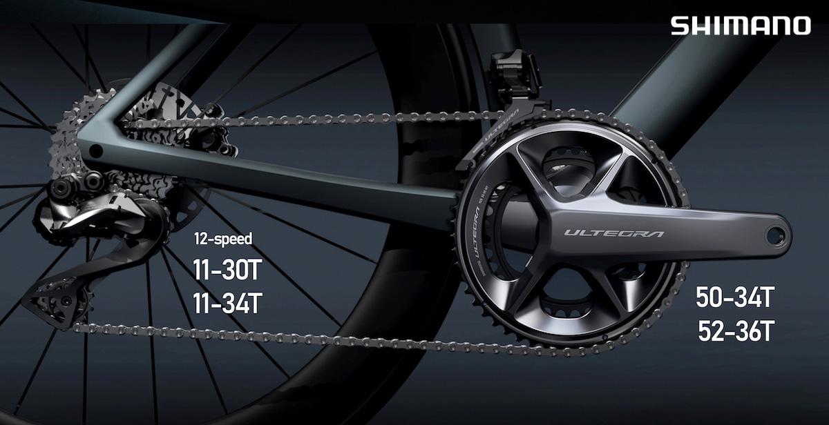 La nuova trasmissione per bici da strada Shimano Ultegra 8100 2021